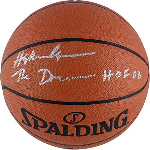Hakeem Olajuwon Houston Rockets Autographed NBA Indoor Outdoor Basketball with The Dream & HOF 08 Inscriptions - Fanatics Authentic Certified