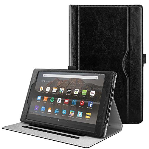 TiMOVO All-New Fire HD 10 Case (7th Generation, 2017 Release) - Ultra Lightweight Slim Shell Stand Cover Case with Auto Wake/Sleep Function for Amazon Fire HD 10.1'' Tablet, Black by TiMOVO