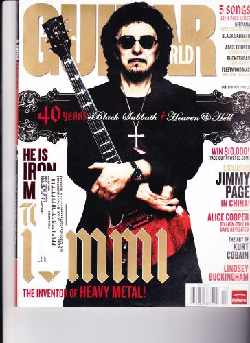 TONY IOMMI BLACK SABBATH GUITAR WORLD HOLIDAY 2008 5 SONGS WITH BASS LINES NIRVANA ALICE COOPER AND MORE!