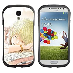 LASTONE PHONE CASE / Suave Silicona Caso Carcasa de Caucho Funda para Samsung Galaxy S4 I9500 / Japanese Anime Comic School Boy