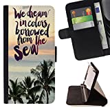 Jordan Colourful Shop -We Dream In Coors bowwed from the sea -- Leather Cover Case High Impact Absorption Case FOR Apple Iphone 5C ---