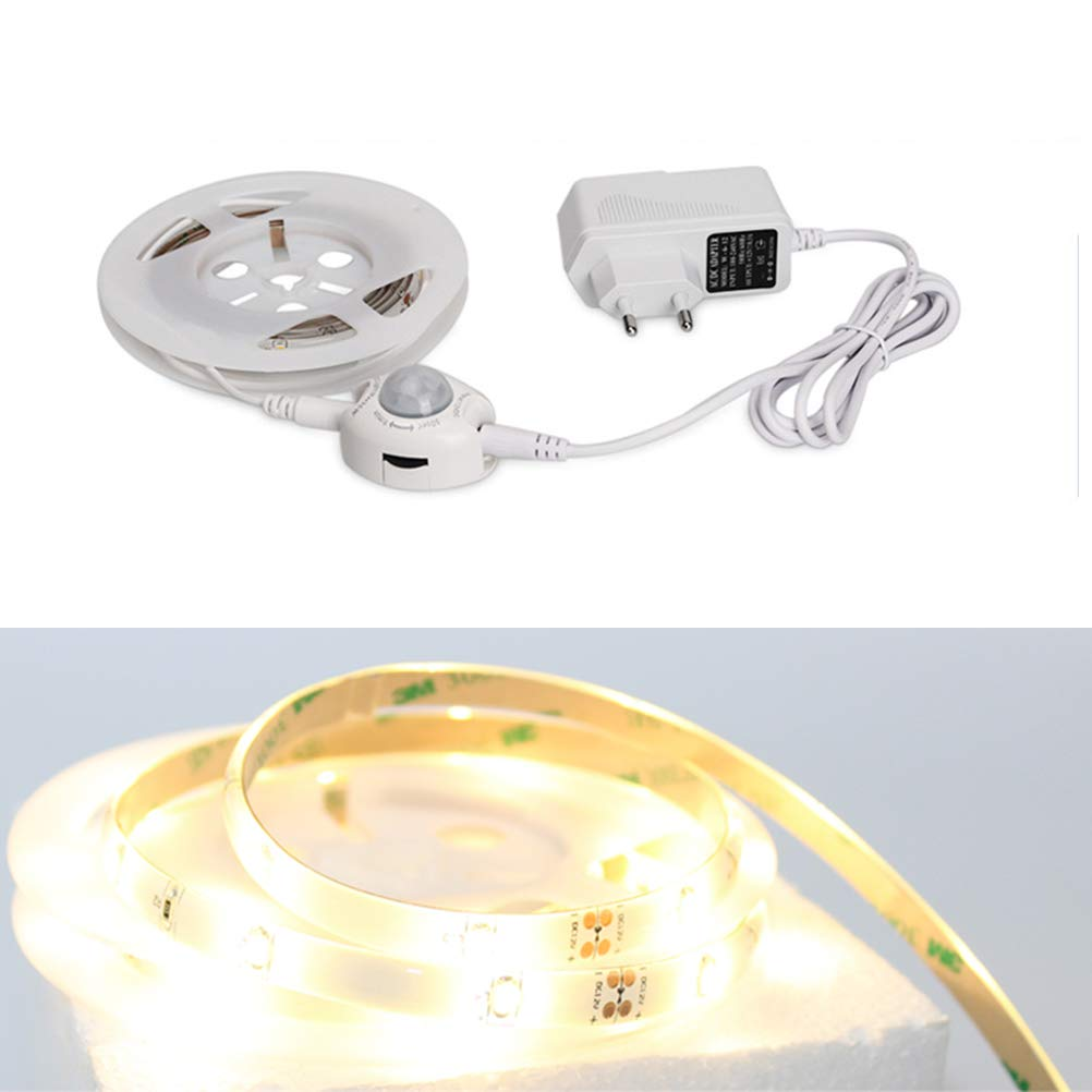 LEDMOMO Luces del sensor de la cama, 30 LED Tira de la luz del WiFi Tira LED impermeable del USB con el sensor de sonido: Amazon.es: Iluminación