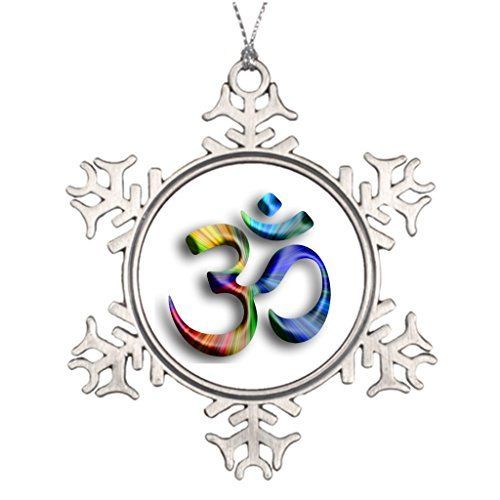 Xixitly Personalised Christmas Tree Decoration om aum yoga Meditation Ball Snowflake Ornaments by Xixitly