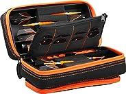 Casemaster Plazma Pro, 6 Dart Case for Soft and Steel Tip Darts, Features Large Front Mobile Device Pocket, Bu