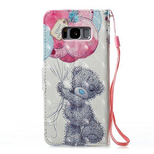 Samsung Galaxy S8 Plus PU Cuero Funda, Vandot 3D Bling Rhinestones Mariposa Shell TPU Inner Bumper Case Funda con Billetera Tapa Holster Cierre Magnético Tarjeta Ranura Carcasa Teléfono Concha Bolsa C SZCH-8