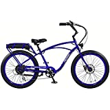 """Pedego Interceptor 26"""" Classic Neon Blue with Black Balloon Package 48V 10Ah"""
