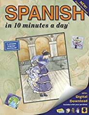 SPANISH in 10 minutes a day: Language course for beginning and advanced study. Includes Workbook, Flash Cards,