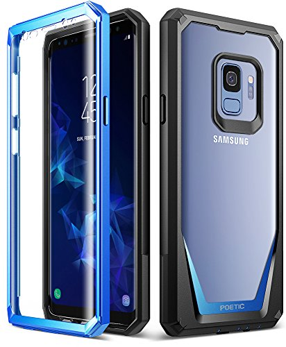 Galaxy S9 Case, Poetic Guardian [Scratch Resistant Back] [360 Degree Protection] Full-Body Rugged Clear Hybrid Bumper Case with Built-in-Screen Protector for Samsung Galaxy S9 Blue