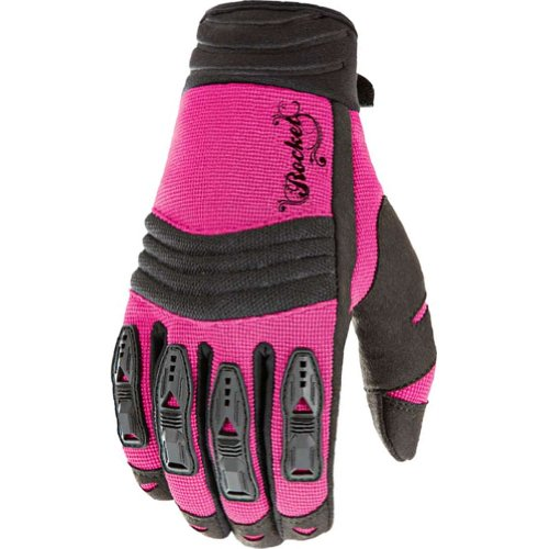 Joe Rocket Velocity Women's Textile On-Road Racing Motorcycle Gloves - Pink/Black / Medium