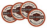 Harley-Davidson Long Bar & Shield Neoprene Coaster Set, 4 Pack, 4 inch CS31216