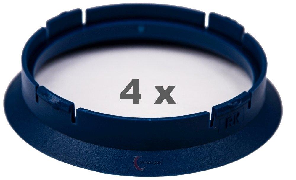 4/X Anello Di Centraggio in plastica 63.3/mm su 56.6/mm Verde