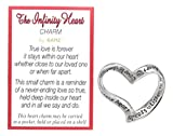 "Ganz 1"" Friendship Infinity Heart Pocket Charm With Poem Card"