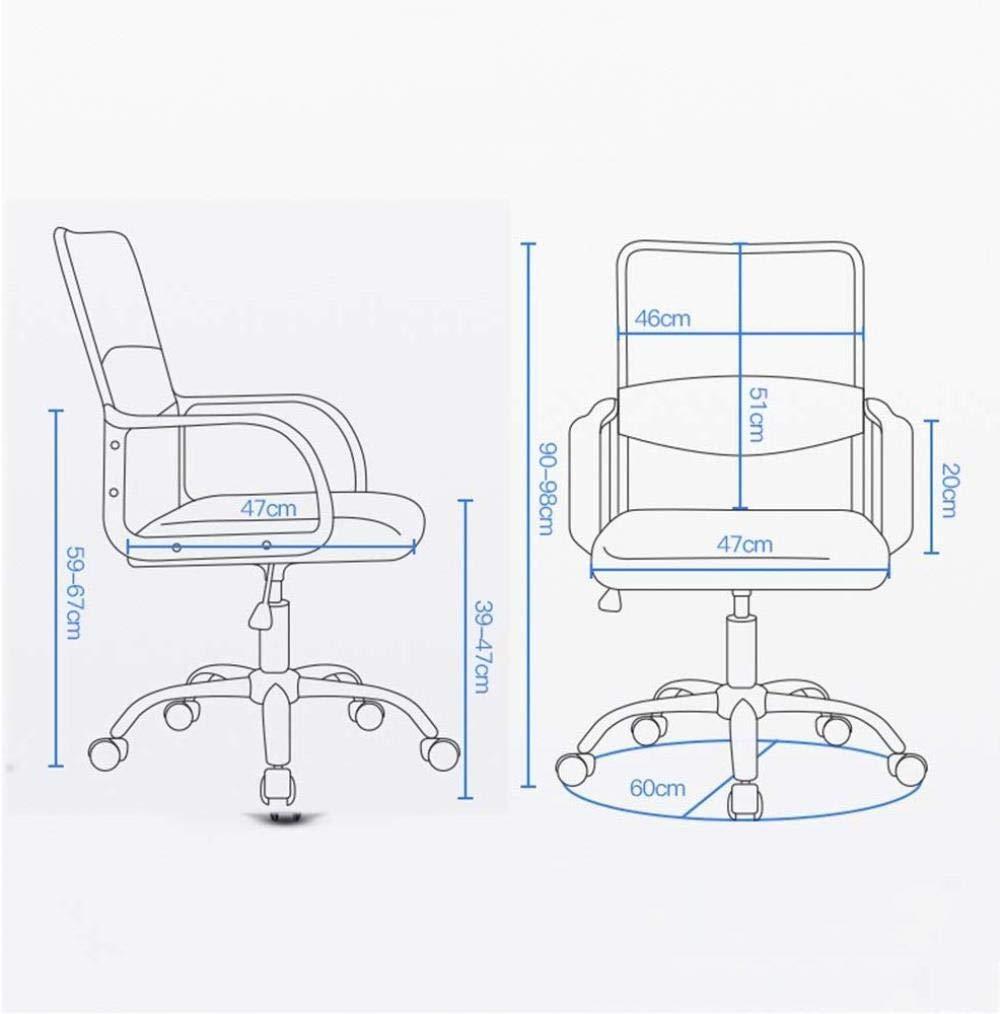 Xiuyun kontorsstol spelstol dator uppgift skrivbordsstol med armstöd och ländrygg stöd höjd justerbar nätmottagning stol bärande vikt 120 kg (färg: svart) Grått