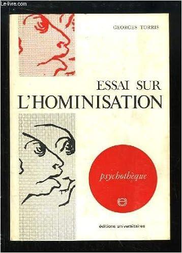 Ebooks epub télécharger rapidshare ESSAI SUR L'HOMINISATION psychologie et biologie PDF iBook