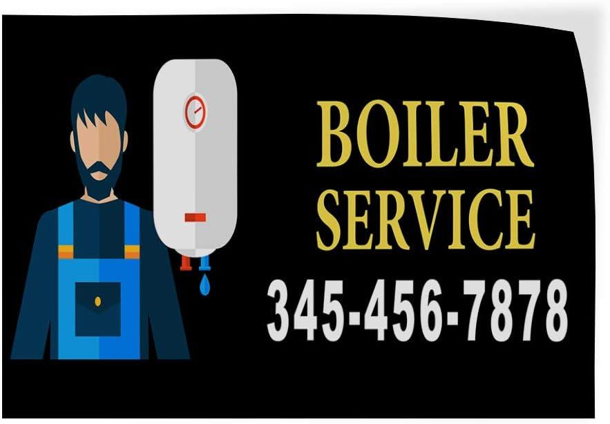 Custom Door Decals Vinyl Stickers Multiple Sizes Boiler Service Phone Number Black Business Boiler Service Outdoor Luggage /& Bumper Stickers for Cars Black 52X34Inches Set of 5