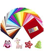SOLEDI Fieltro Manualidades Tela no Tejido de Lana 60 Colores, Material para Costura y Artesanías de Bricolaje (30*30cm)