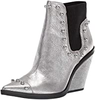 NINE WEST Women's Zoneout Metallic Ankle Boot