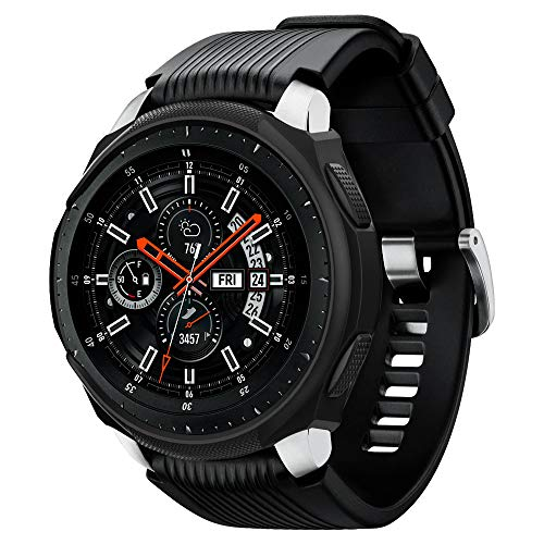 Spigen Liquid Air Armor Designed for Samsung Galaxy Watch Case 46mm (2018) / Designed for Samsung Gear S3 Frontier Case (2017) / Smartwatch Case - Black