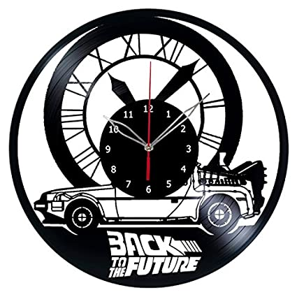 Back to The Future Vinyl Clock Record Wall Clock Handmade Fan Art Decor Unique Decorative Vinyl