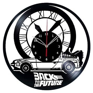 Regreso al futuro Vinyl reloj Record reloj de pared a mano Fan Art Decor Unique vinilo