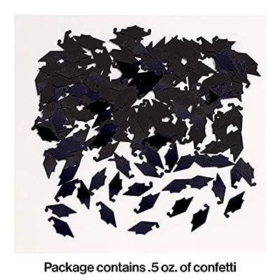 Creative Converting 50382 Graduation Caps Confetti, One Size, Black: Childrens Party Confetti: Kitchen & Dining