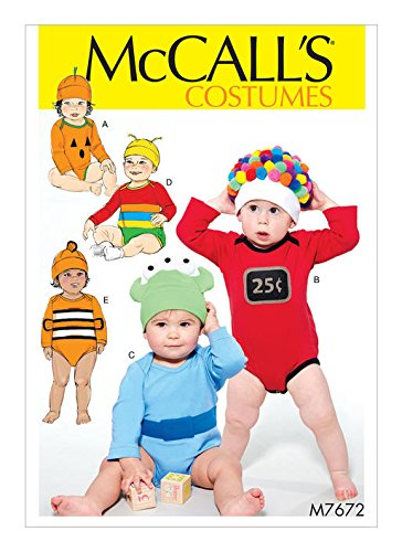 MCCALLS MP546 / M7672 BABY CHILD COSTUME SEWING PATTERN ~ SIZE NB-XL -