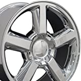 20x8.5 Wheel Fits GM Trucks and SUVs - Chevy Tahoe Style Chrome Rim, Hollander 5308