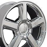2008 tahoe rims - 20x8.5 Wheel Fits GM Trucks and SUVs - Chevy Tahoe Style Chrome Rim, Hollander 5308