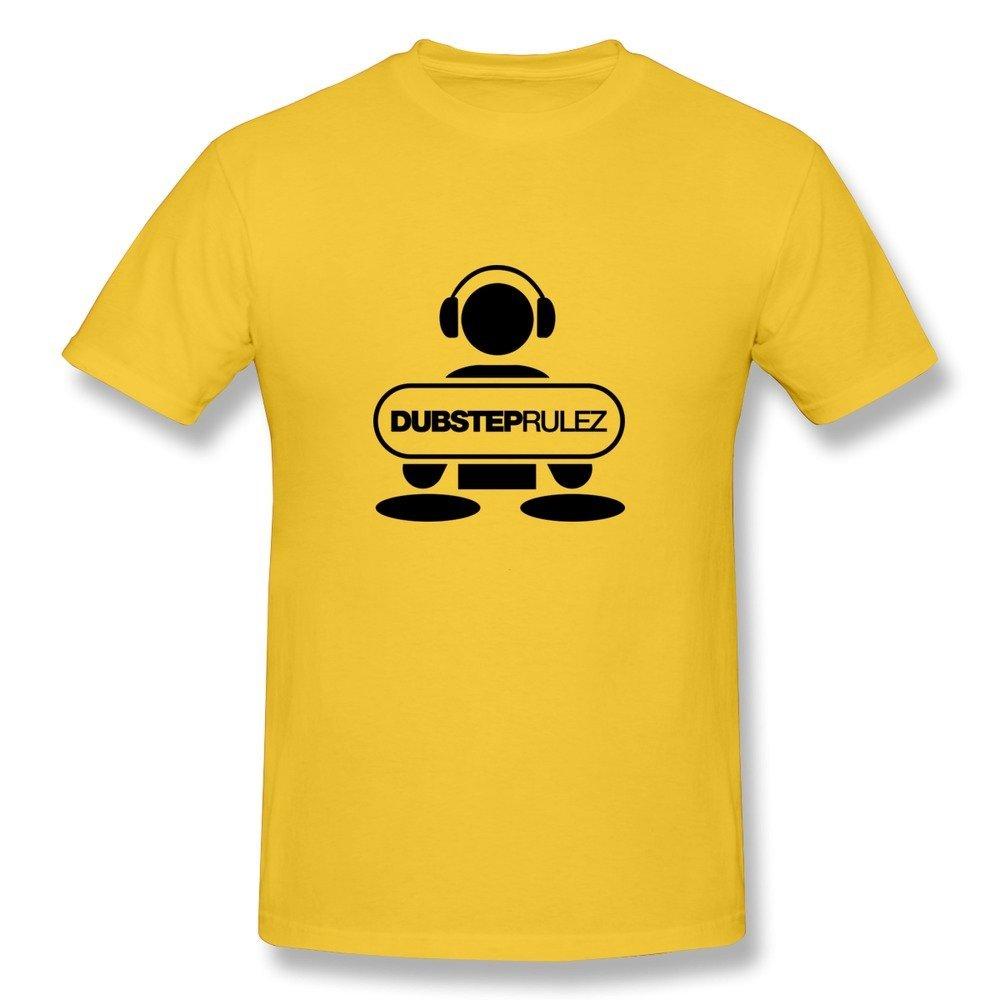 Chunyao Dj Dubstep Rulez F1 T Shirt For Man Yellow 5029