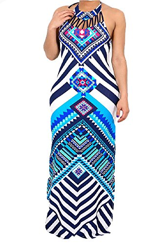 - shekiss Women's Sexy Floral Spaghetti Strap Sleeveless Split Long Maxi Dress Bohemian Backless Ladies Outfits