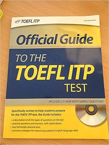 Toefl itp practice test free.