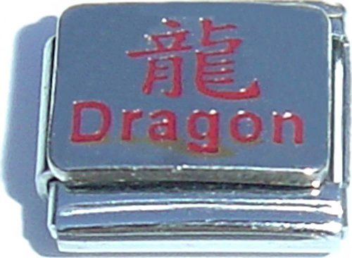 Dragon And Chinese Character Italian Charm (Italian Character Charm Chinese)