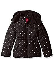 "Pink Platinum Little Girls' ""Winter Stars"" Insulated Jacket - black, 6x"