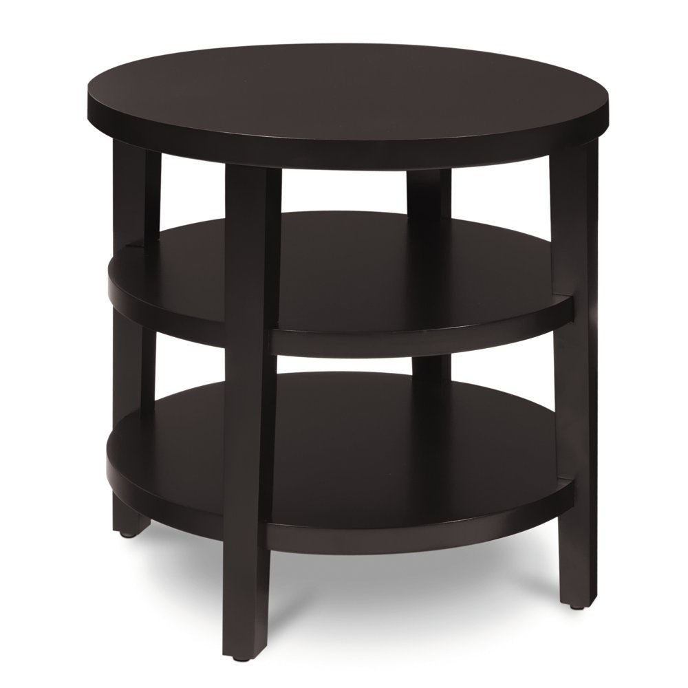 Amazon.com: AVE SIX Merge Round End Table, 20 Inch, Espresso: Kitchen U0026  Dining