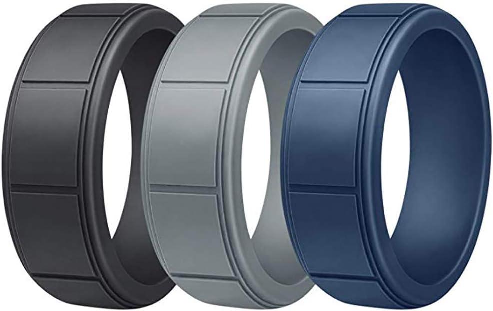 GOGO bandas de silicona para anillos de boda para hombres y mujeres activos.