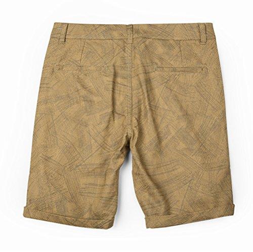 Moda Aire Hombres De Khaki Para Medios Yra Pantalones Al Pies Breechcloth Impresos La Ocasionales 5 Cortos Libre Playa Los Algodón SwTEEqY8