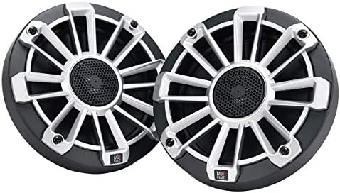 120 Watts and Off-Road Vehicle Marine Audio Boat Black, Pair Black, Silver, White Marine Grade Speakers 3 Grill Colors 6.5 Inch RV MB Quart NP1-116 Nautic Premium Waterproof Speakers