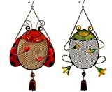Frog & Lady Bug Bird Feeder