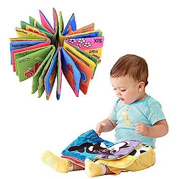 Yosoo Libros de Tela para Bebé Libros de Texturas de Bebé Idioma