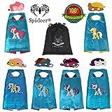 SpiderMarket My Little Pony Set of 6 Cape & Msak Cosplay Kids Costume Party