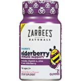 Zarbee's Naturals Children's Elderberry Immune Support* Gummies with Vitamin C, Zinc, Natural Berry Flavor, 21 Count