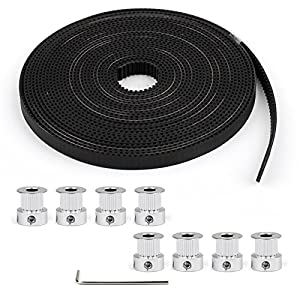 Areyourshop 8pcs GT2 Pulley 16Teeth Bore 5mm + 5m GT2 Timing Belt For 3D Printer Part RepRap from Areyourshop