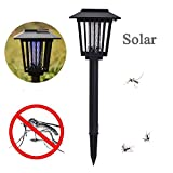 Solar Insect Zapper, Mosquito Bug Insect Worm Fly Killer LED Cordless Garden Lamp Hang or Stake in the Ground Outdoor Zapper Light