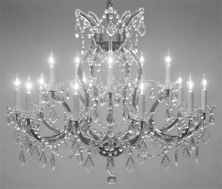 Maria Theresa Chandelier Crystal Lighting Chandeliers Lights Fixture Pendant Ceiling Lamp for Dining room, Entryway , Living room H28″ X W37″