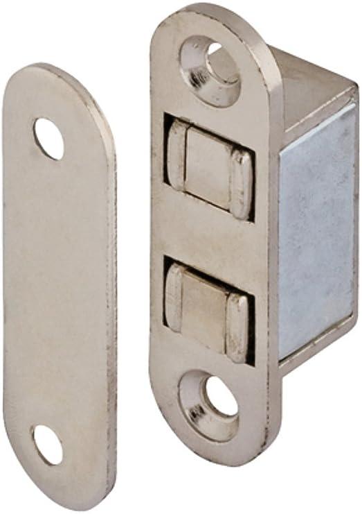 Gedotec Schrank-Magnetverschluss weiss mit Gegenplatte Magnetschnapper T/ür zum Schrauben H2062 T/ürmagnet Haftkraft 4,0 kg MADE IN GERMANY 2 St/ück zum Schrauben