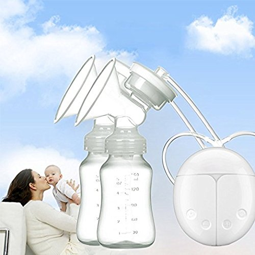 Breast Pump Electric Double Breastpumps Milk Storage Bottle Dual Control Milk Suction and Breast Massager Breast Care For Breastfeeding Iwalouges 20180509bp