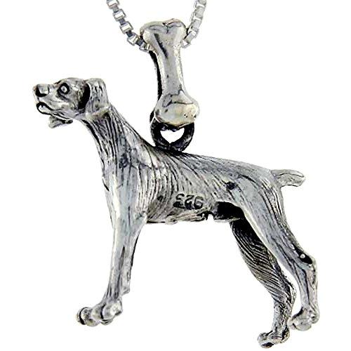 Sterling Silver Pointer Dog Pendant