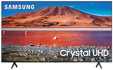 Samsung 43-inch TU-7000 Series Class Smart TV | Crystal UHD - 4K HDR - with Alexa Built-in | UN43TU7000FXZA, 2020 Model (Renewed)