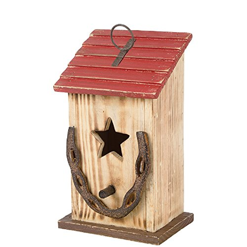 Carson 5 Inches Width x 10.5 Inches Height x 4.25 Inches Diameter Horseshoe Birdhouse Garden (Birdhouses Garden)