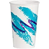 16 oz paper cups - Solo RP16P-00055 16/18 oz Jazz DSP Paper Cold Cup (Case of 1000)